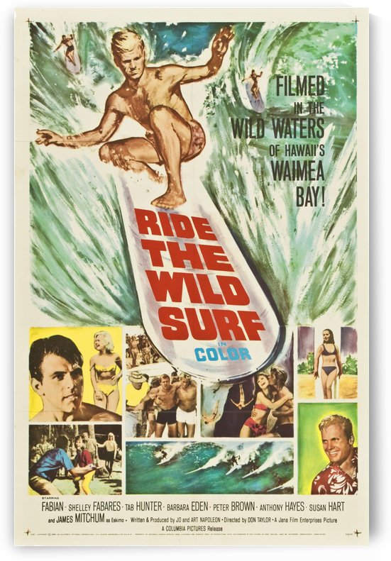 1964 RIDE THE WILD SURF - Movie Poster by Surf Posters