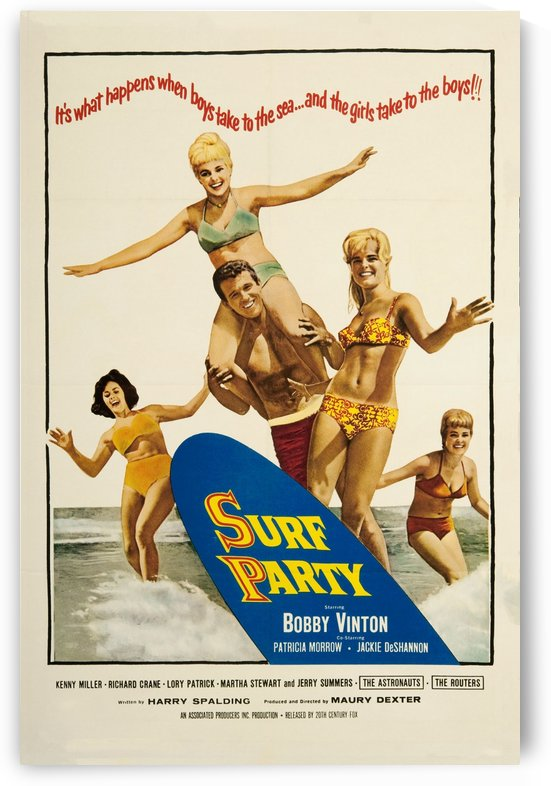 1964 SURF PARTY - Movie Poster by Surf Posters