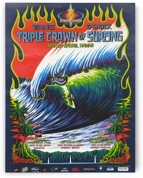 2000 VANS TRIPLE CROWN Surfing Competition Poster by Surf Posters