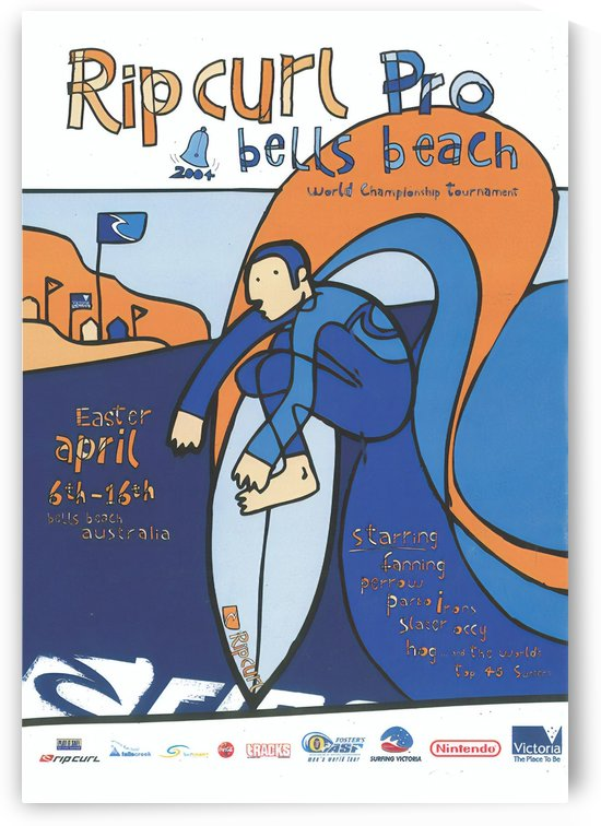 2004 RIP CURL PRO BELLS BEACH EASTER Surfing Championship Competition Print - Surfing Poster by Surf Posters
