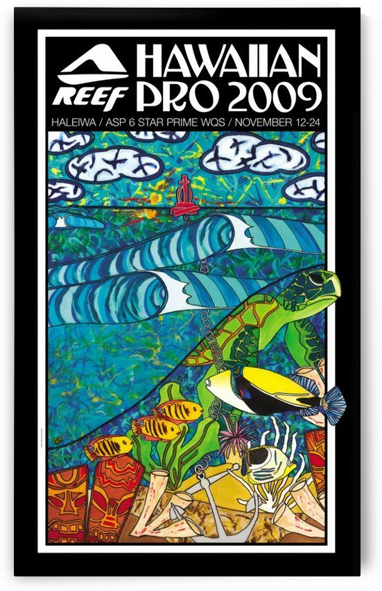 2009 REEF HAWAIIAN PRO Surf Competition Poster by Surf Posters