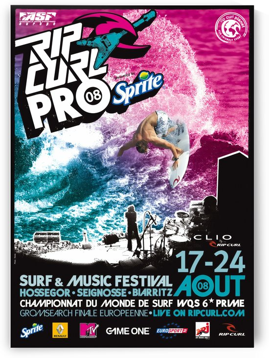 2008 RIP CURL PRO BELLS  BEACH EASTER Surfing Championship Competition Print - Surfing Poster by Surf Posters