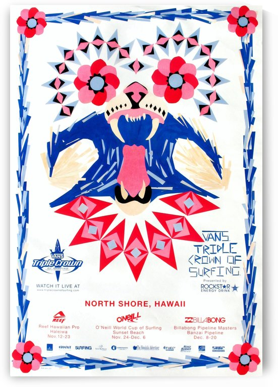 2008 VANS TRIPLE CROWN OF SURFING Competition Poster by Surf Posters