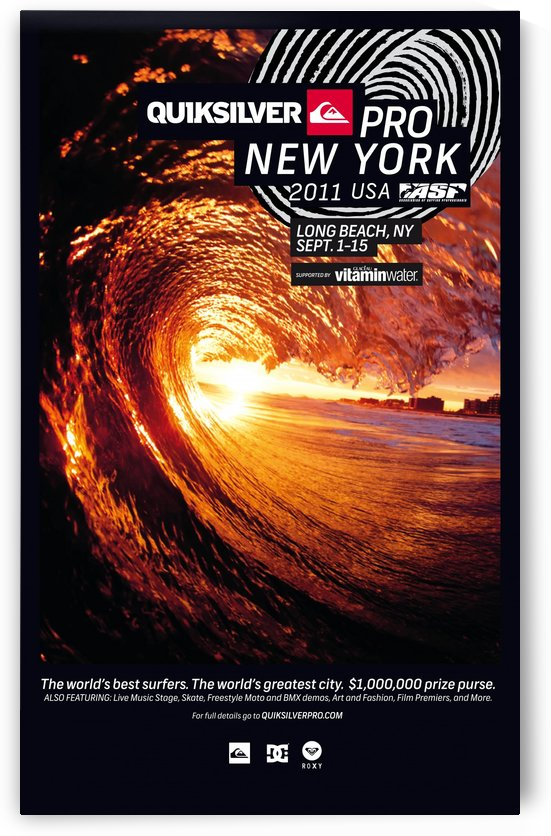 2011 QUIKSILVER PRO NEW YORK Surfing Competition Poster by Surf Posters