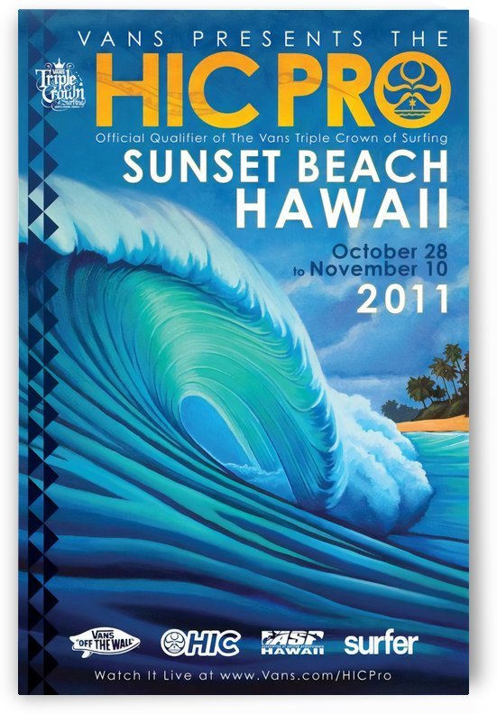 2011 VANS HIC PRO SUNSET BEACH Surfing Competition Print by Surf Posters