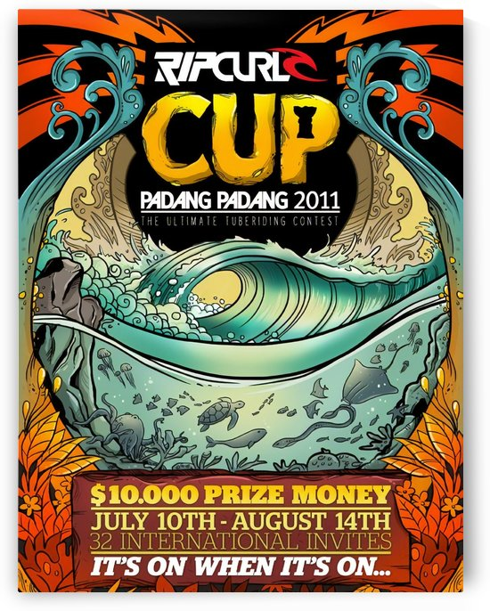 2011 RIP CURL CUP PADANG PADANG Surfing Competition Poster by Surf Posters