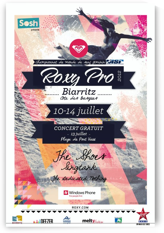 2012 ROXY PRO BIARRITZ Surfing Competition Print by Surf Posters
