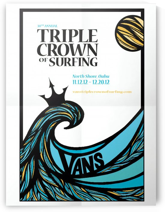 2012 VANS TRIPLE CROWN OF SURFING Competition Print by Surf Posters
