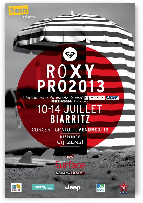 2013 ROXY PRO BIARRITZ Surfing Competition Print by Surf Posters