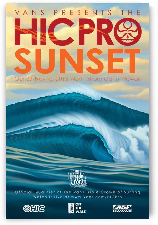 2013 VANS HIC PRO SUNSET BEACH Competition Print by Surf Posters