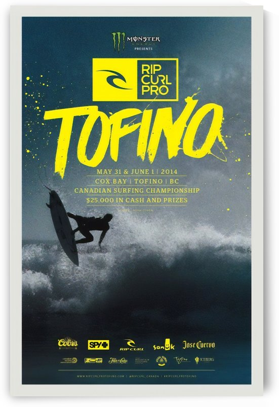 2014 RIP CURL PRO TOFINO Competition Print by Surf Posters