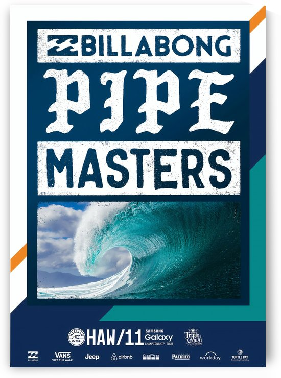 2016 BILLABONG PIPE MASTERS Surfing Poster by Surf Posters