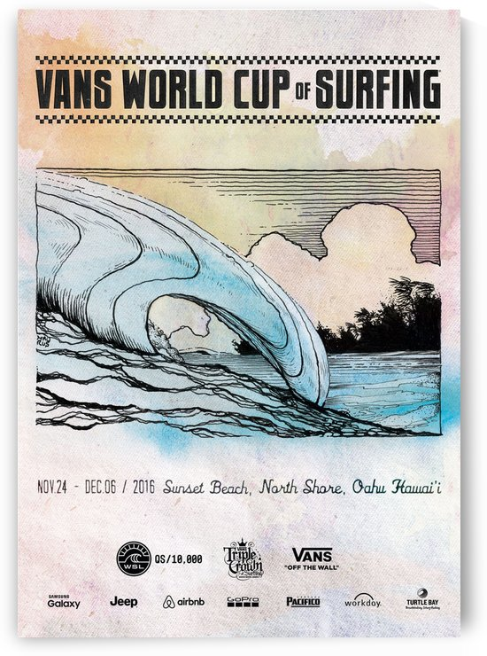 2016 VANS WORLD CUP OF SURFING Print by Surf Posters