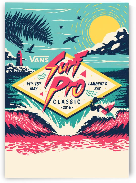 2016 VANS SURF PRO CLASSIC Surf Print by Surf Posters
