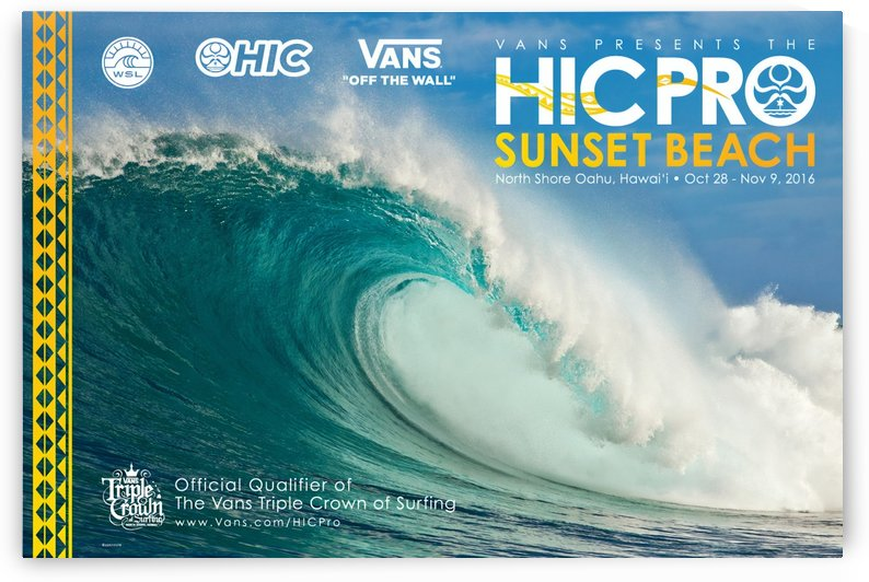 2016 VANS HIC PRO SUNSET BEACH Competition Print by Surf Posters