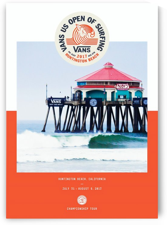 2017 VANS U.S. OPEN OF SURFING Print by Surf Posters