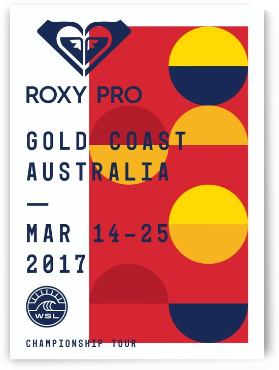 2017 ROXY PRO Print - Gold Coast Australia - Surfing Poster by Surf Posters