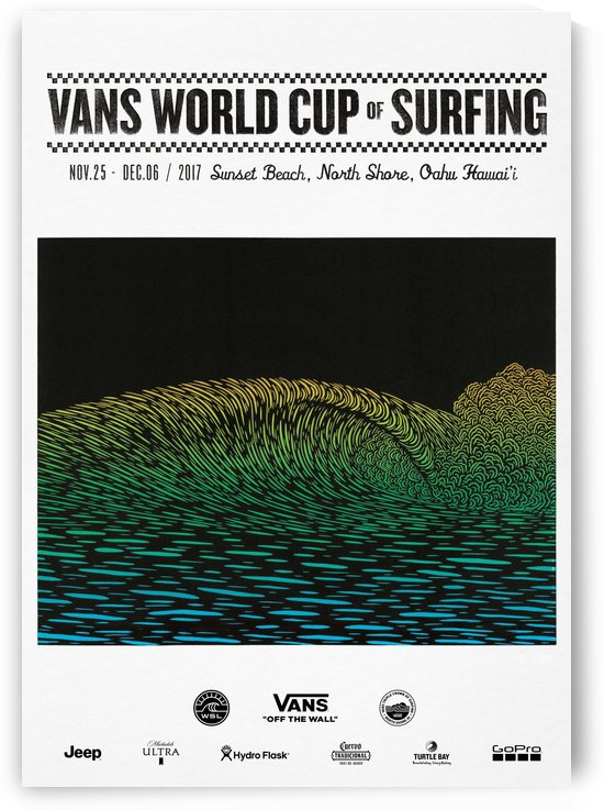 2017 VANS WORLD CUP OF SURFING Competition Print by Surf Posters
