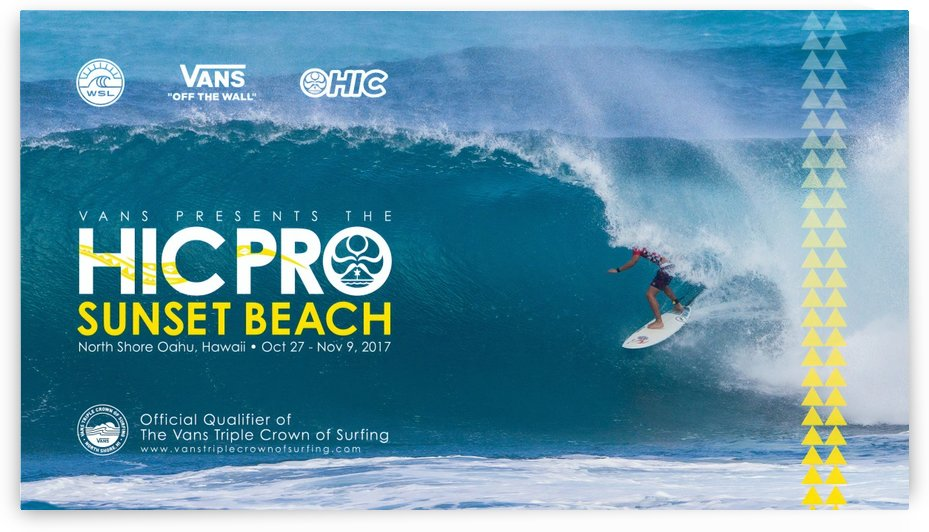 2017 VANS HIC PRO Surf Competition Print  by Surf Posters