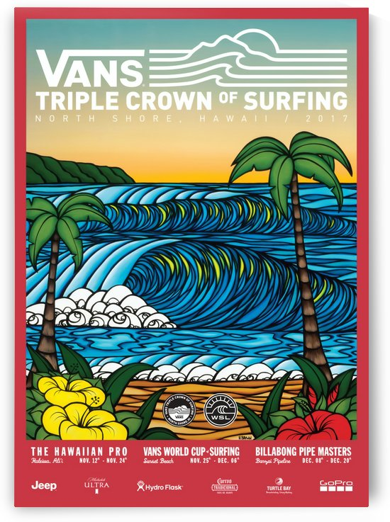 2017 VANS TRIPLE CROWN OF SURFING Competition Print by Surf Posters