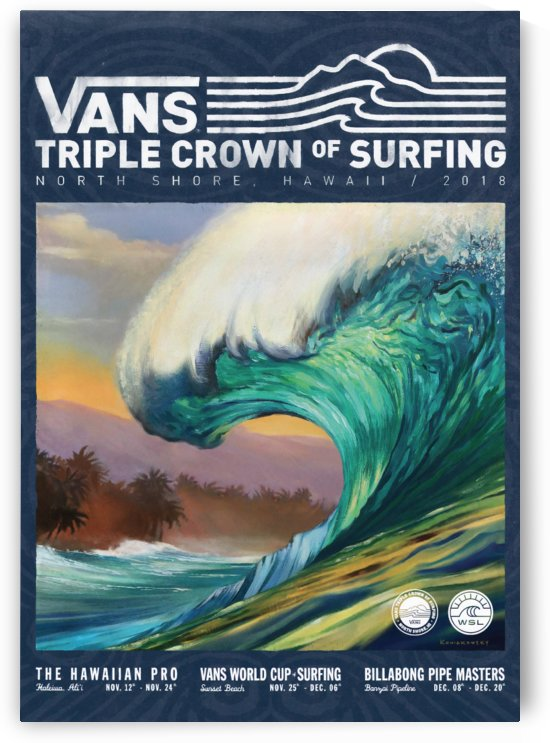 2018 VANS TRIPLE CROWN OF SURFING Competition Print by Surf Posters