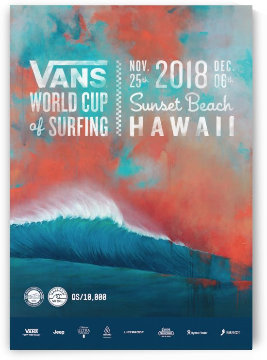 2018 VANS WORLD CUP Surf Competition Print by Surf Posters