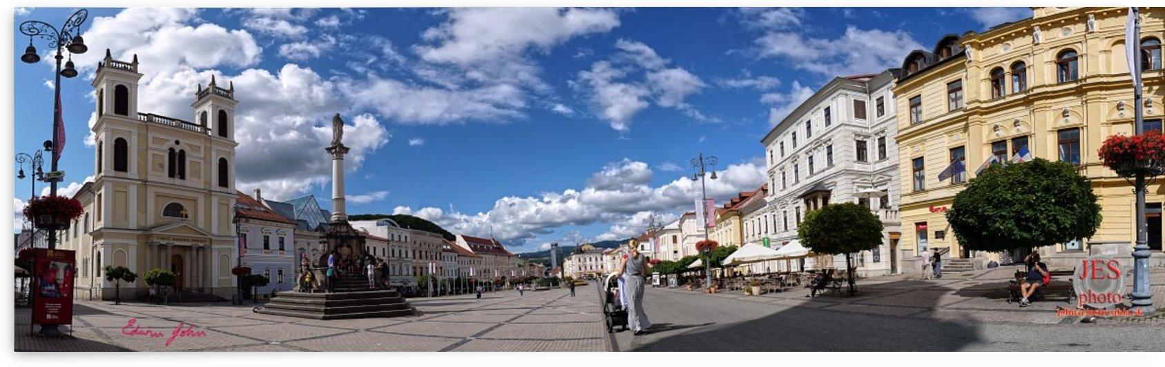 Banska Bystrica visual panorama Main Square by Edwin John