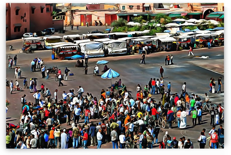 View Over Jemaa el Fnaa 2 by Dorothy Berry-Lound