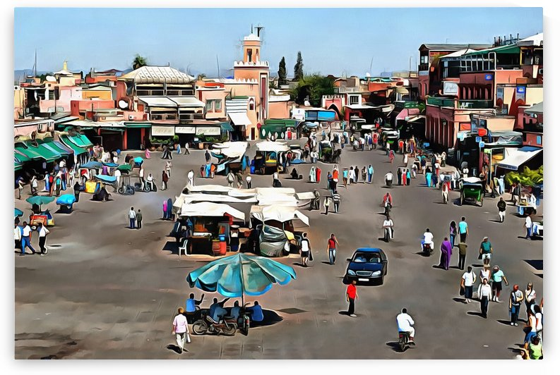 View Over Jemaa el Fnaa 3 by Dorothy Berry-Lound