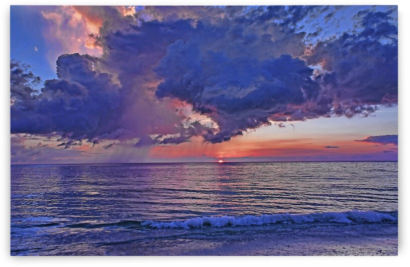 A Colorful Summer Sunset by HH Photography of Florida