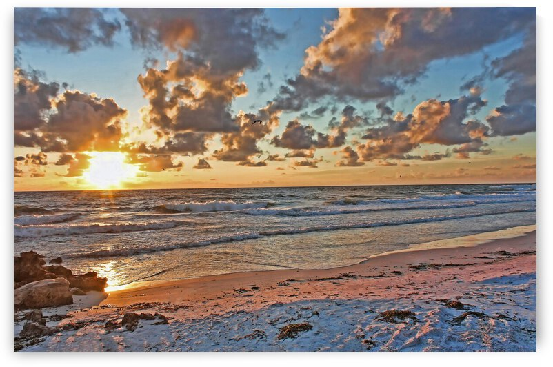 Florida Gulf Coast Sunset by HH Photography of Florida