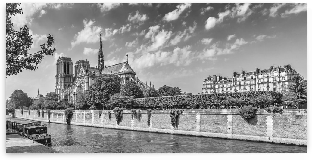 PARIS Cathedral Notre-Dame | monochrome by Melanie Viola