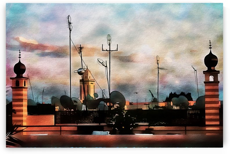 Rooftop View Marrakech 3 by Dorothy Berry-Lound