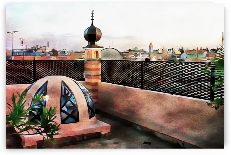 Rooftop View Marrakech 1 by Dorothy Berry-Lound