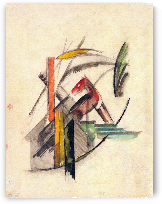Animal by Franz Marc by Franz Marc