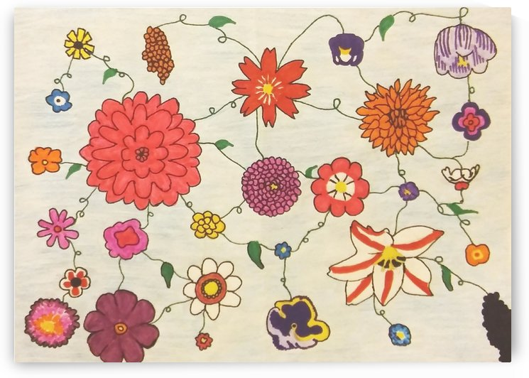 Collage of Flowers by SarahJo Hawes