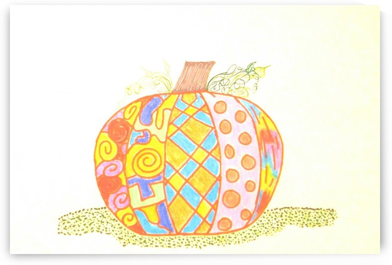 Colorful Pumpkin by SarahJo Hawes