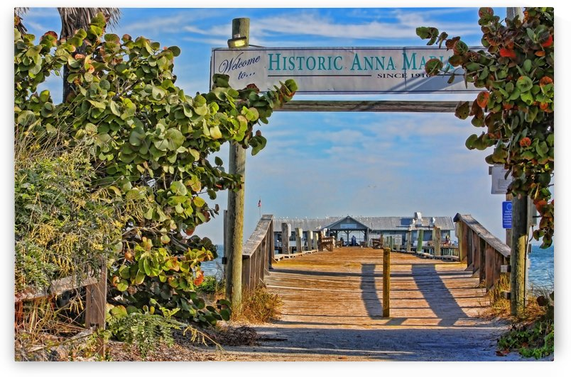 Anna Maria City Pier Landmark  by HH Photography of Florida