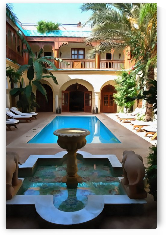 Riad Pool View Marrakesh by Dorothy Berry-Lound