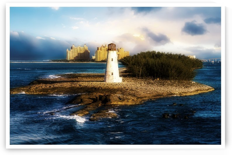 Bahamas Lighthouse with Resort Soft by Darryl Brooks