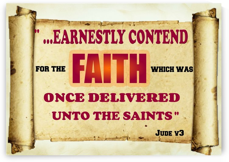 Earnestly contend for the faith by Edifying Designs