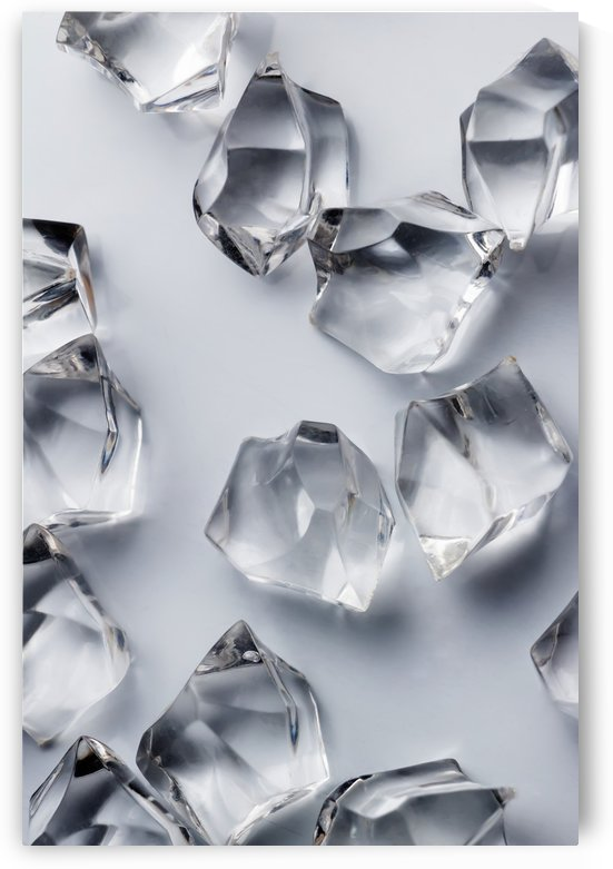 Crystals on the white background by Krit of Studio OMG