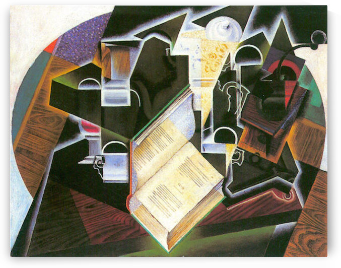 Book, pipe and glasses by Juan Gris by Juan Gris