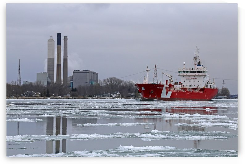 Iver Bright Power Plant and Ice by Mary Bedy