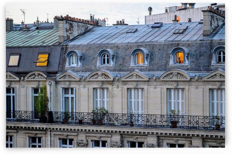 ParisPhotosApartmentViewwithGoldenWindow by Jean Farrell