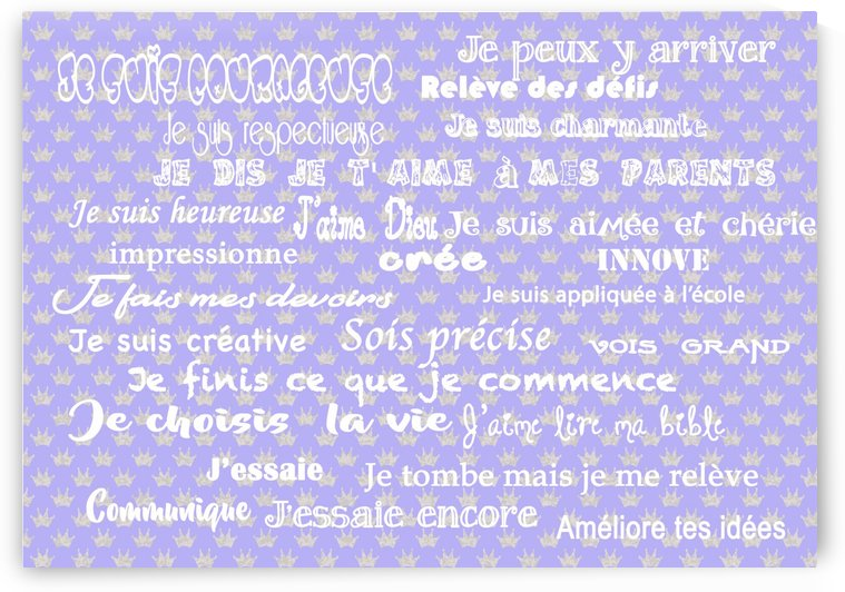 Je suis courageuse by Kreations Je suis - I am