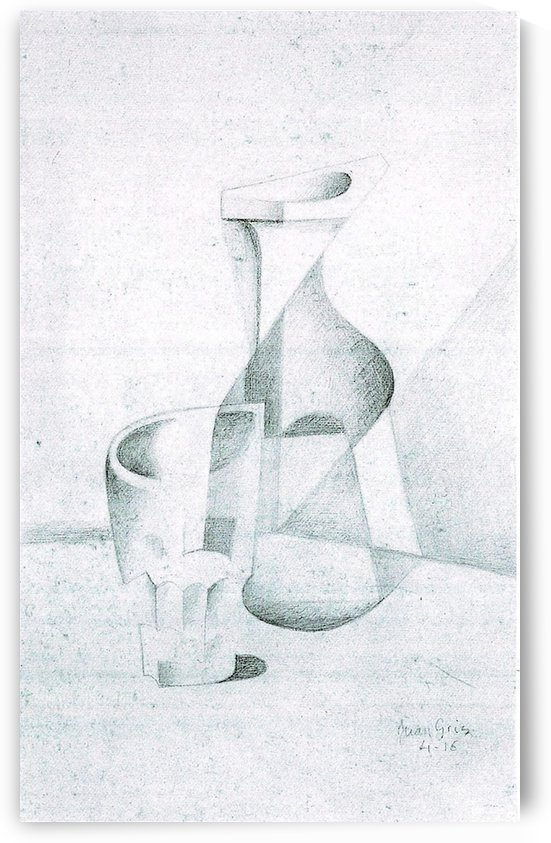 Caraffe and Glass by Juan Gris by Juan Gris