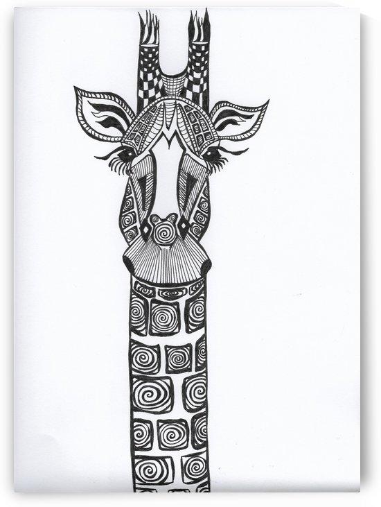 Black and White Giraffe by EF Kelly