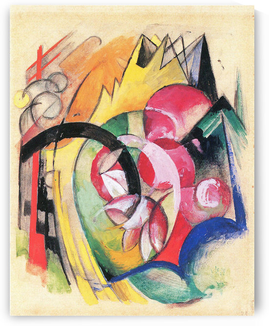 Colored flowers by Franz Marc by Franz Marc