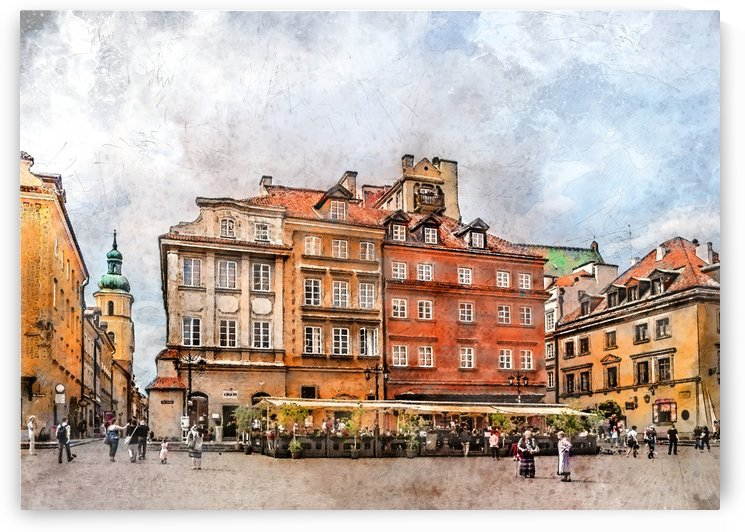 Warsaw city art by Justyna Jaszke